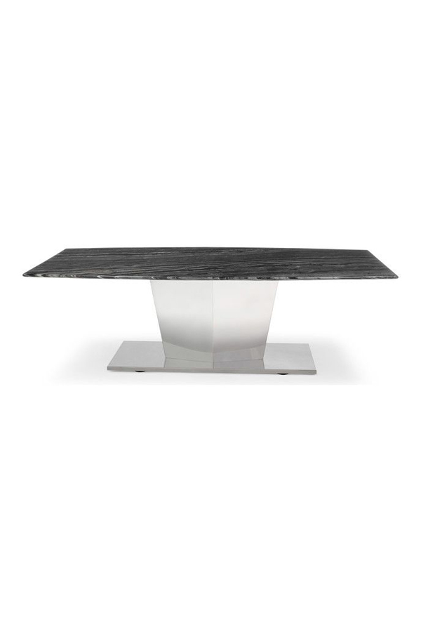 black marble coffee table brushed stainless steel