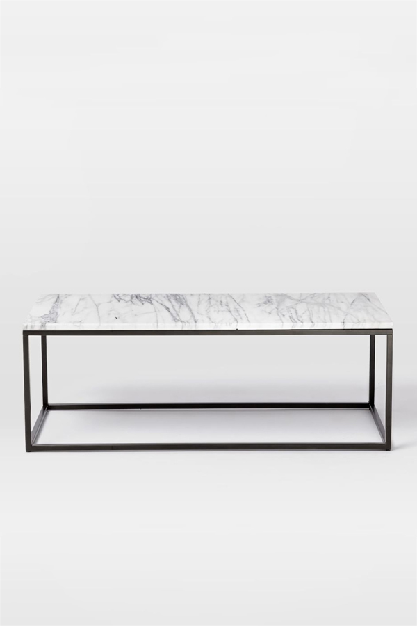 box frame marble coffee table