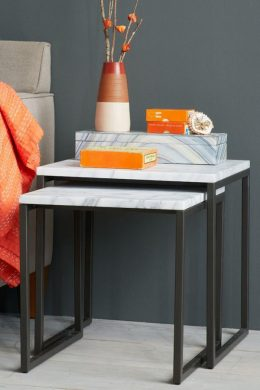 box frame nesting marble tables