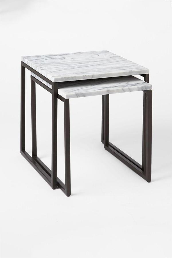 box frame nesting marble tables