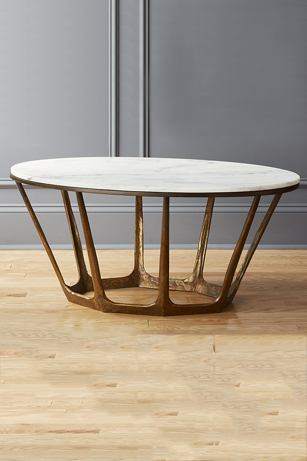 carmen oval marble coffee table