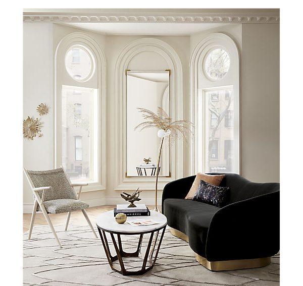 carmen oval marble coffee table