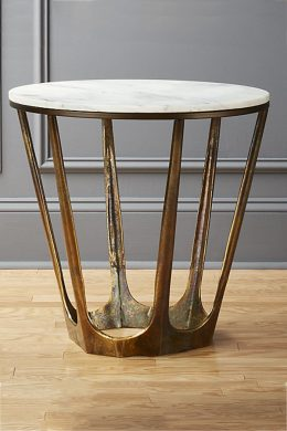 carmen round marble side table