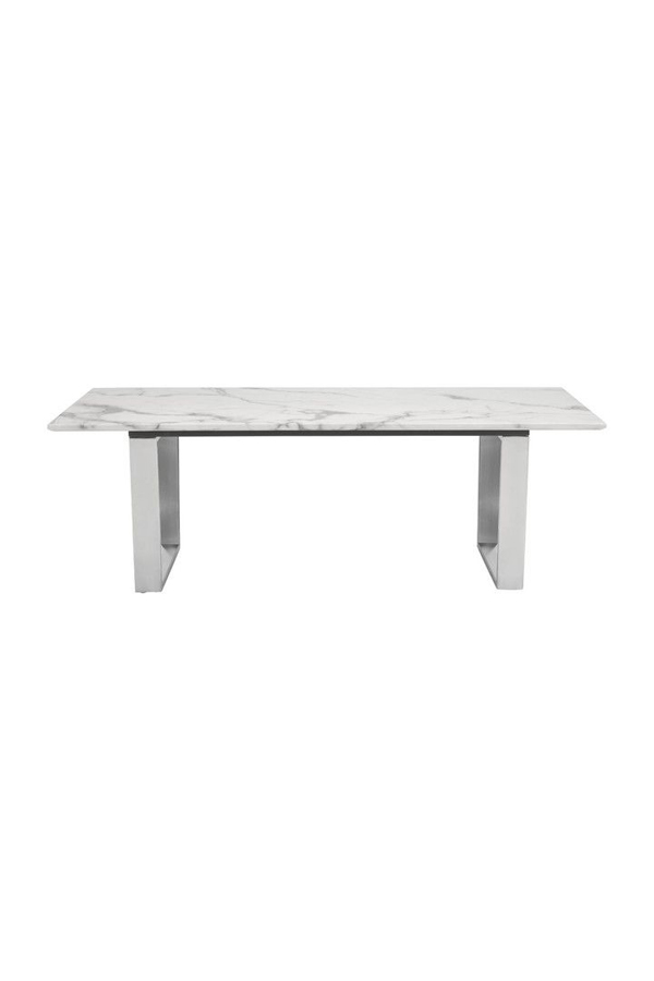 christal marble top coffee table stainless steel base
