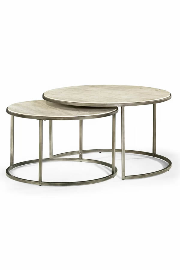 dreamy 2 piece marble coffee table set