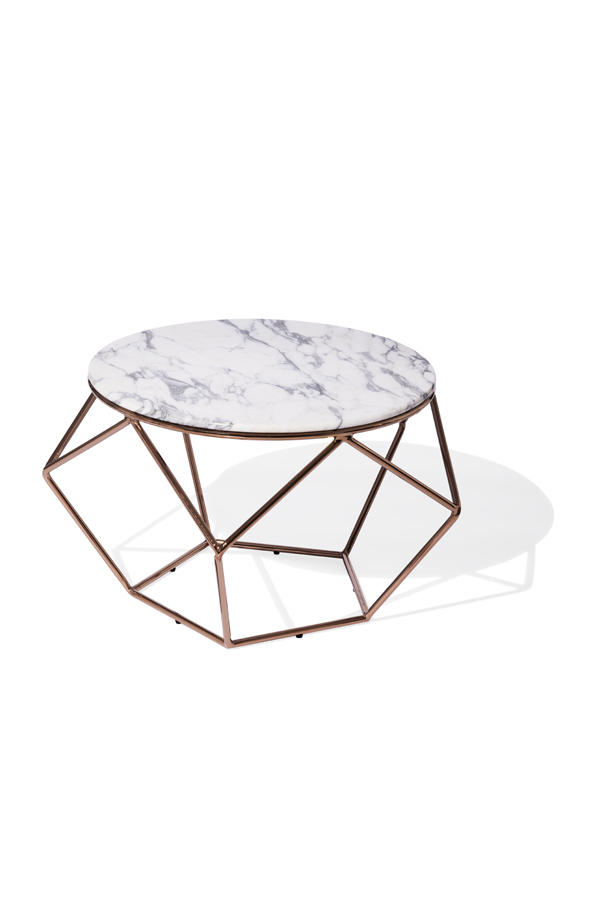facet marble coffee table