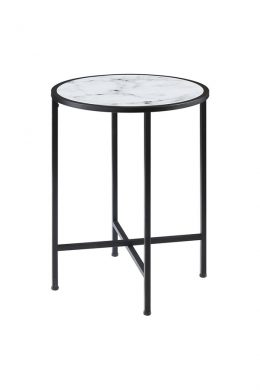 gold coast round marble end table