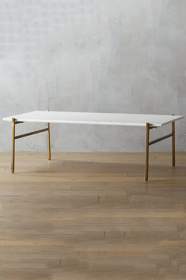 Large Marble Coffee Table Brass Base Lexiang