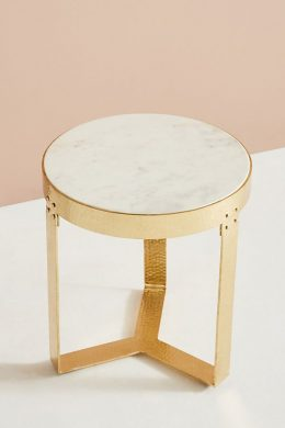 lirit round marble bedside table