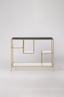 lottie green marble console table