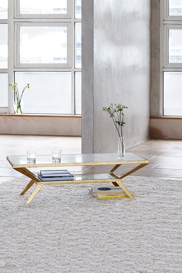 luxe diamond white marble top coffee table
