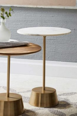Maisie Round Marble Bedside Table