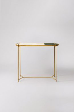marble console table white/green/brass