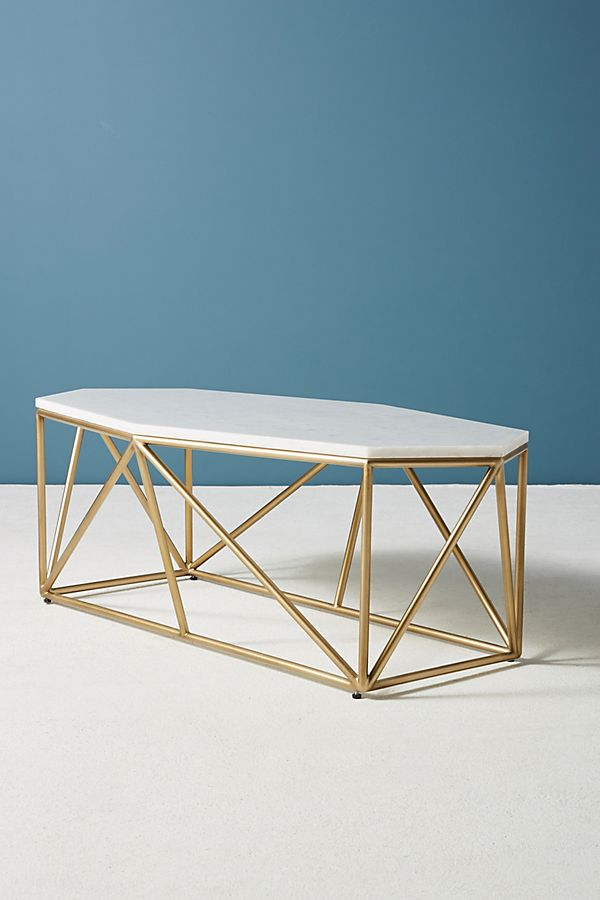 marble gem white marble coffee table