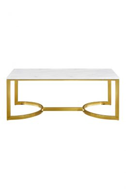 maria marble top coffee table gold base