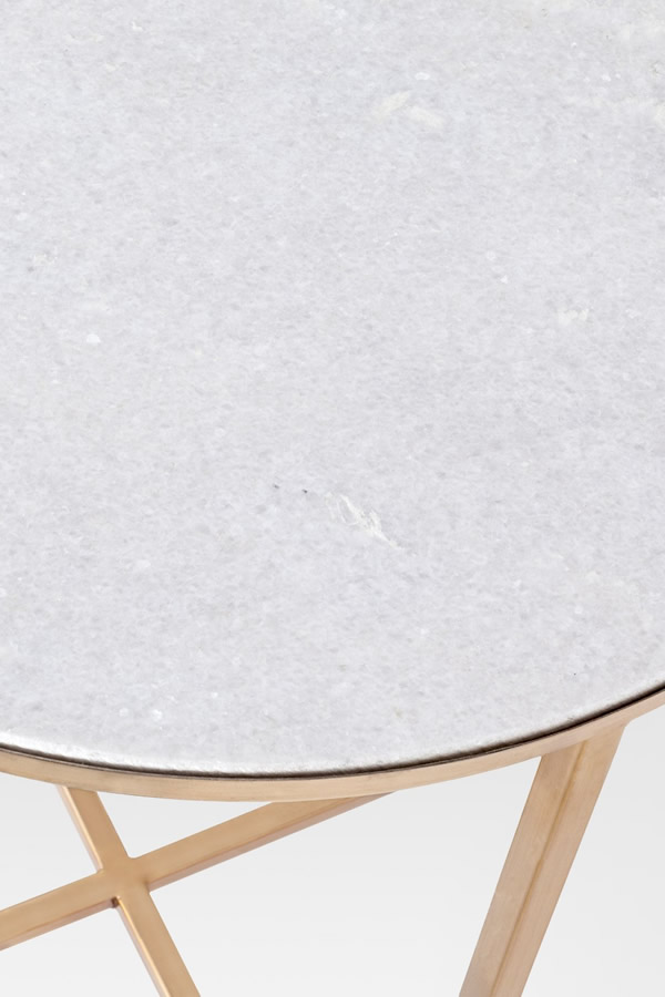 marlton marble top side table gold