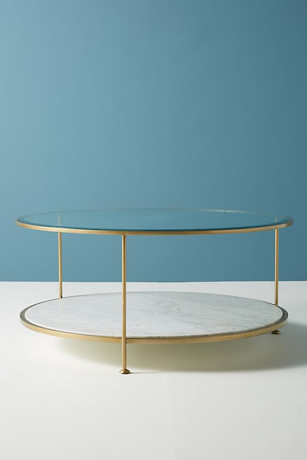 milne round marble coffee table