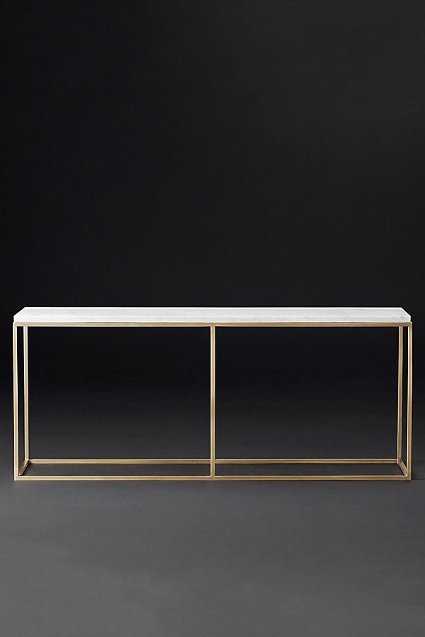 nicholas marble top console table