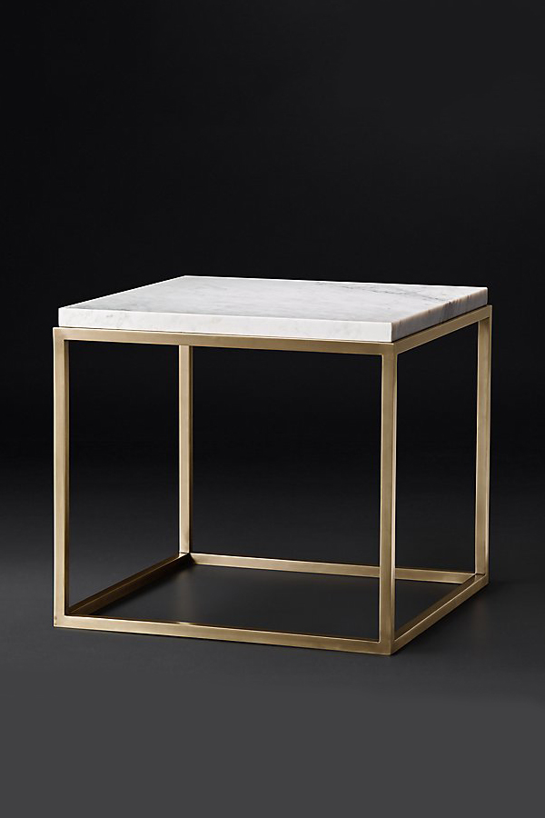 nicholas square marble side table