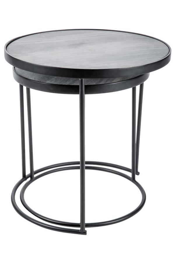 round marble top bedside table