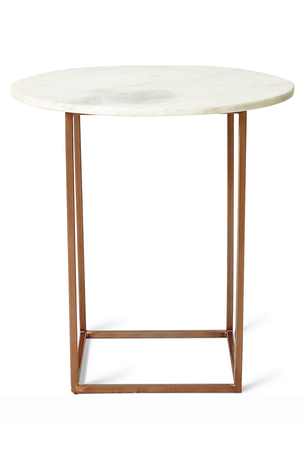 selenite marble end table