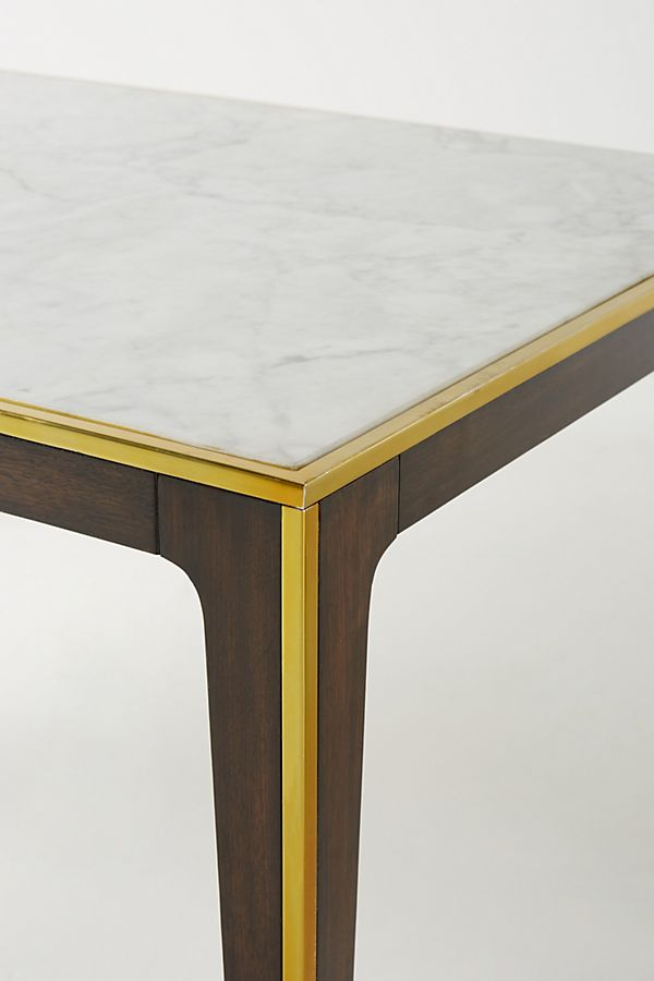 silhouette square marble top dining table