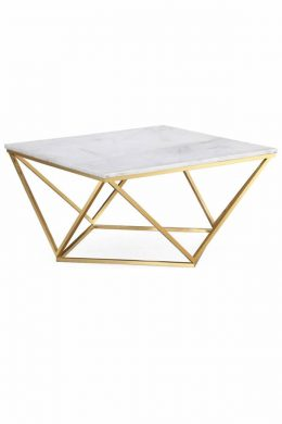square white marble cocktail table