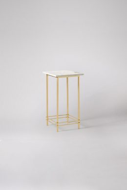 Elegant White Square Marble Side Table
