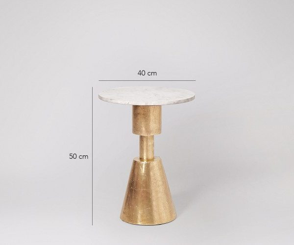 Marble Tabletop Side Table MST043