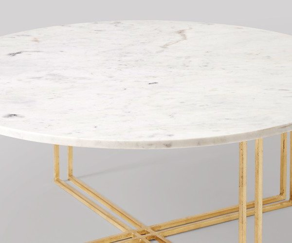 Round Marble Coffee Table Steel Base