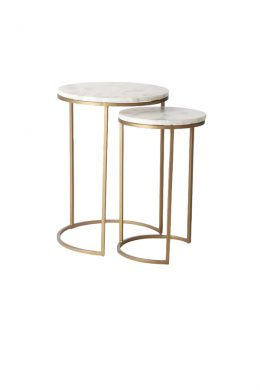 Round Retro Nesting Side Table Set