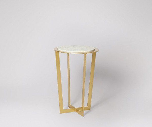 Unique Mini Round Marble Side Table