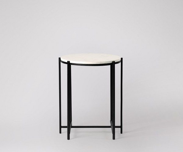 White Marble Side Table For Living Room