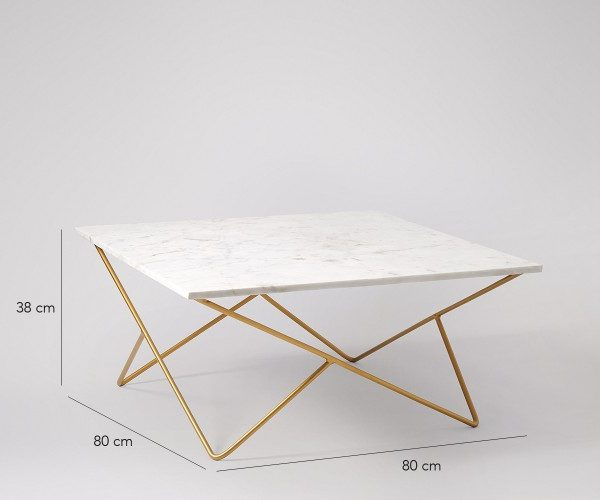 White Square Marble Coffee Table MCT031