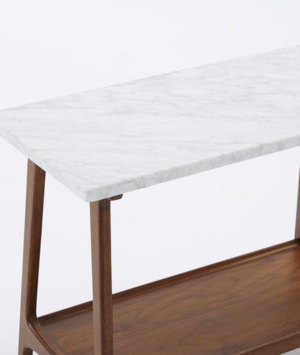 Wood Frame Marble Side Table MST041