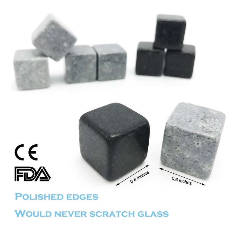 Mixed Color Granite Whiskey Stones Whiskey Ice Cubes-3