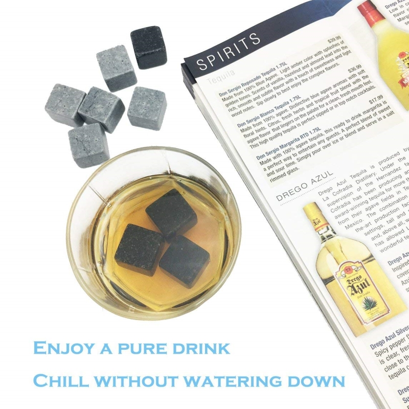 Mixed Color Granite Whiskey Stones Whiskey Ice Cubes-6