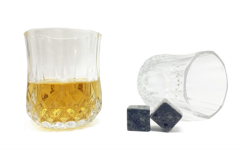 Custom Granite Whiskey Stones Whiskey Ice Cubes Gift Set-4