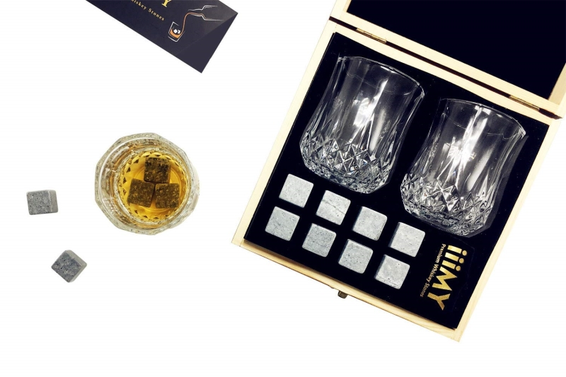 Custom Granite Whiskey Stones Whiskey Ice Cubes Gift Set-5