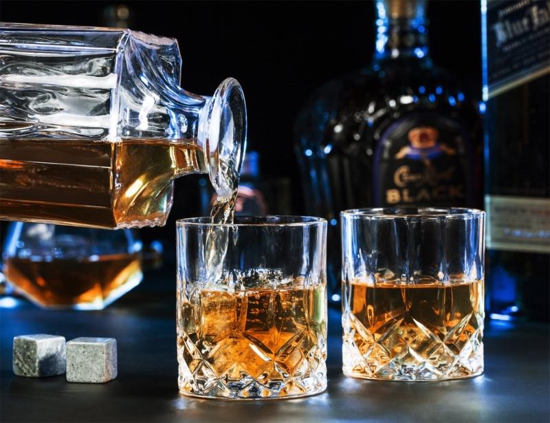 Exquisite Granite Whiskey Ice Cubes Whiskey Stones Box-3