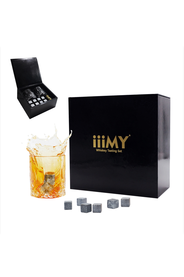 Granite Whiskey Stone Wine Ice Cubes Tasting Set-3