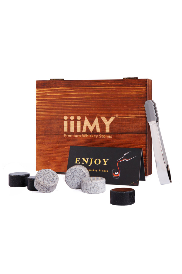 Mixed Color Cylinder Granite Whiskey Stones Whiskey Rocks-8
