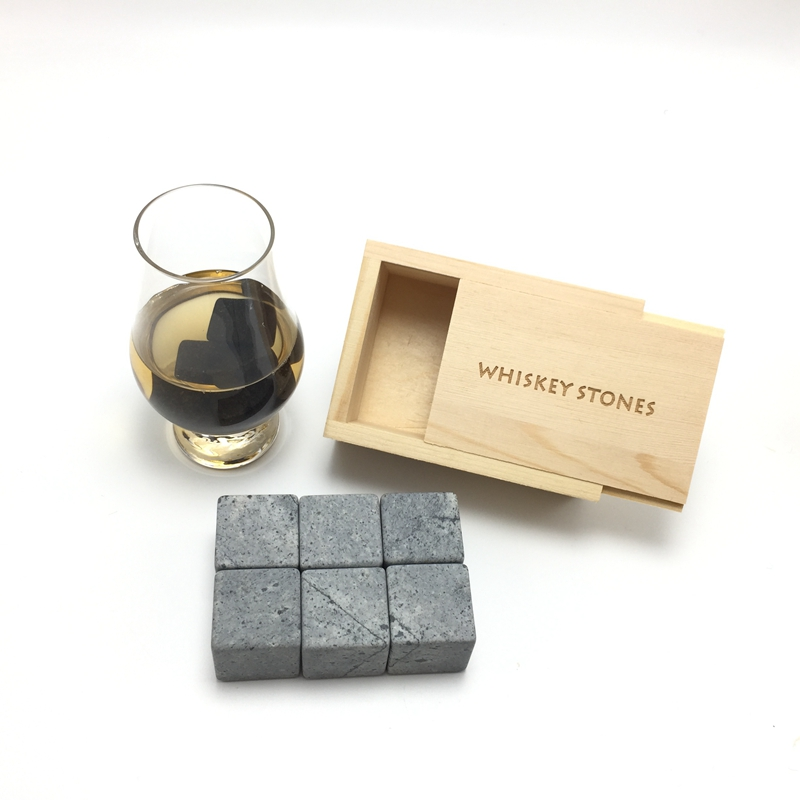 2018 Best Seller 20mm Granite Cube Whiskey Stones Promotional Gift-3