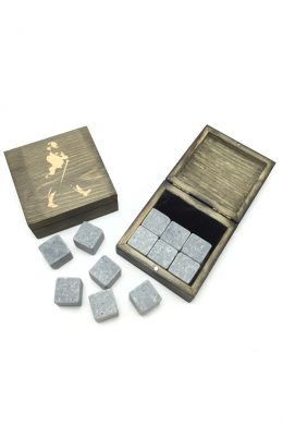 Customized Logo Whiskey Stones Whiskey Rock In Wooden Gift Box-1
