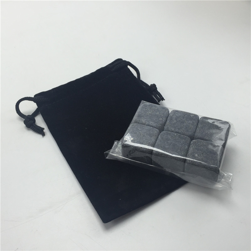 FDA Certificated Whiskey Rock Cubes Chilling Rock With Velvet Bag-3