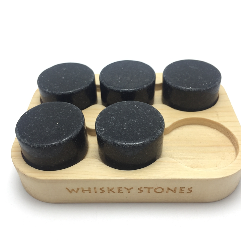 Reusable Portable Granite Whiskey Ice Stones OEM Wooden Box-1