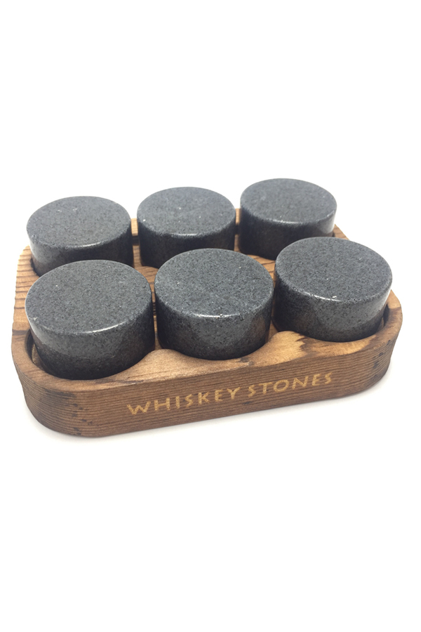 Reusable Portable Granite Whiskey Ice Stones OEM Wooden Box-2