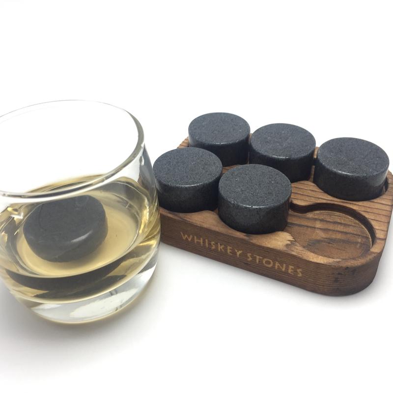 Reusable Portable Granite Whiskey Ice Stones OEM Wooden Box-3