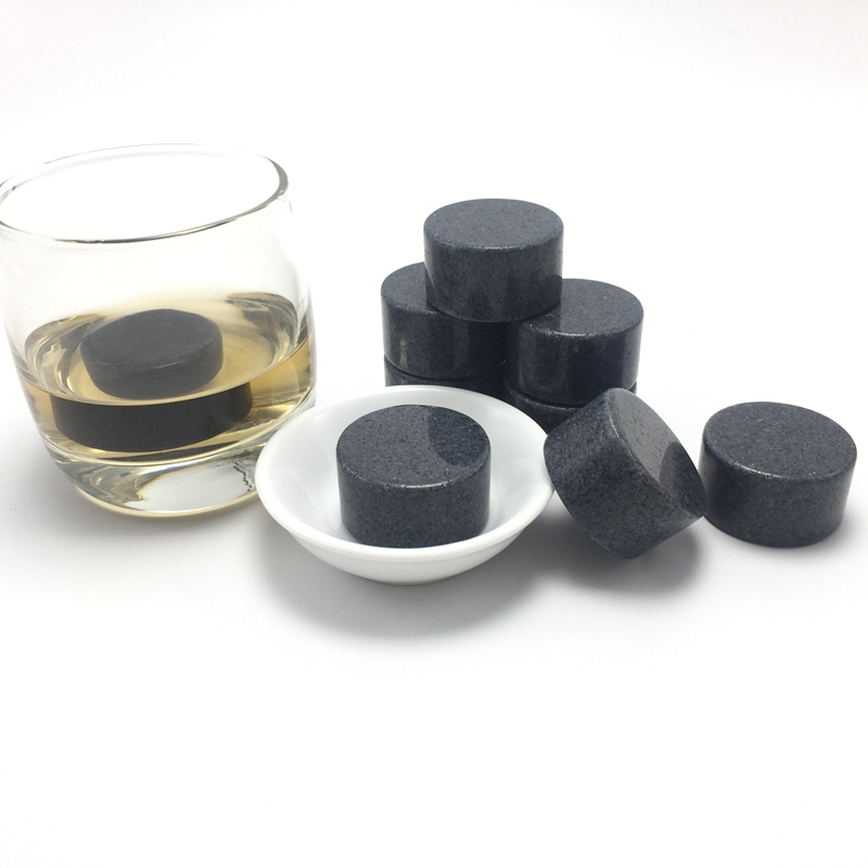 Reusable Portable Granite Whiskey Ice Stones OEM Wooden Box-4